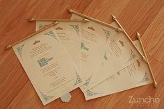 Nuestras invitaciones para los xv de Elina, con temática de Cenicienta :)