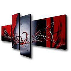 @Overstock.com - Add mystery to your interior design with this hand-painted canvas art. Bold strokes of red, white, black, and gray highlight this four-piece, gallery-wrapped set. Two horizontal and two vertical panels make this a great dramatic focal point.http://www.overstock.com/Home-Garden/Hand-painted-Red-Wing-4-piece-Gallery-wrapped-Canvas-Art-Set/6532326/product.html?CID=214117 $119.99