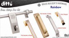 BRASS ALDROP DOOR KIT - RAINBOW Cabinet Handles, Door Handles, Door Kits, Door Stopper, Main Door, Door Pulls, Door Locks, Hardware, Rainbow