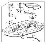 John Deere 48 inch Side Discharge Complete Mower Deck (GT