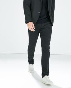 ZARA - STRUCTURED TECHNICAL TROUSERS