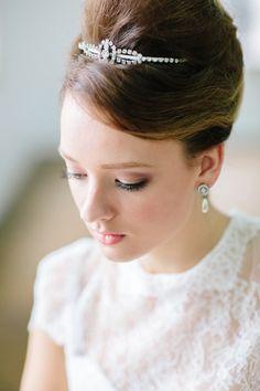 Classic Audrey Hepburn Bridal Look