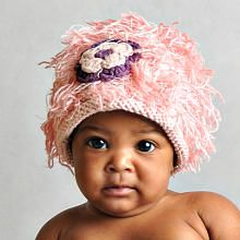 """I could make this.     Mop Top Applique Hat- Flower Power - Pink - (6-12 Months) - Zooni - Babies """"R"""" Us"""