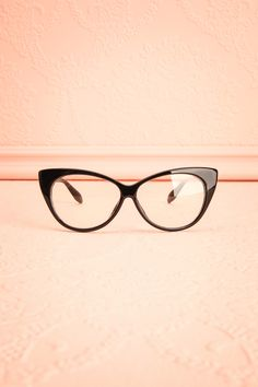 2ae6bb106f0f Monarch Black  Boutique1861   Black cat-eye frame glasses