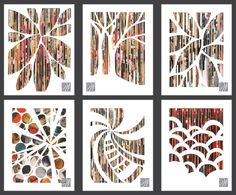 Eco Art - kids cut strips of magazine pages