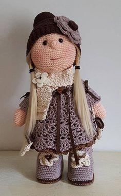 Tutoriel en français Poupée Décembre Crochet Pattern