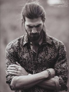 Love the clothes and hair styling -   Scoopmodels.com: Henrik F.  Norse time-traveler and Swedish male model.