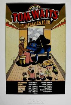 TOM WAITS 1978 Australian Tour  Poster