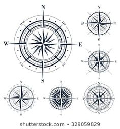 Ideas Tattoo Compass Rose White Ink For 2019 Geometric Compass, Nautical Compass, Mandala Compass Tattoo, Compass Vector, Rose Clipart, Vintage Compass, Nautical Design, Clip Art, Trendy Tattoos