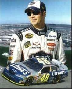 Jimmie Johnson NASCAR Auto Racing 8x10 Photograph Collage by Hall of Fame Memorabilia. $16.95. Jimmie Johnson is a current NASCAR Sprint Cup race car driver who drives the #48 Lowe's/Kobalt Tools Chevrolet Impala SS co-owned by Rick Hendrick and his teammate Jeff Gordon and operated by Hendrick Motorsports. Johnson is the reigning three-time NASCAR Sprint Cup champion. In 2008 he became only the second driver to win three consecutive Sprint Cup Series Championship...