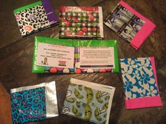 Mall Scavenger Hunt Invitations! Made duct tape wallets then created the invitation to look like a credit card.