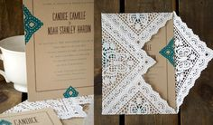 I like these envelope liners made from doilies.  Cool vintage touch.