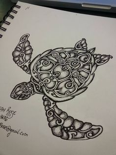 Sea Turtle by TheSwampRose.deviantart.com on @DeviantArt