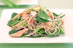 This hearty salad is a tasty combination of tender salmon, soba noodles and healthy greens.