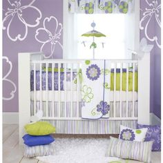 Baby girl nursery set | is just brilliant for a girls nursery room. The four piece set ...