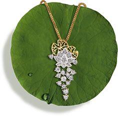 Tanishq Jewellery online-Niloufer Nothing beats diamonds! Mens Gold Jewelry, Platinum Jewelry, Bridal Jewelry, Diamond Jewelry, Gold Jewellery, Diamond Pendant, Simple Jewelry, Modern Jewelry, Tanishq Jewellery