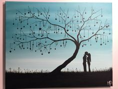 The tree of love- 16 x 20 acrylic on canvas , ready to hang, by Michael H. Prosper by MichaelHProsper on Etsy
