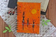"""Купить Блокнот """"Саванна"""" в интернет магазине на Ярмарке Мастеров блокнот, блокнот ручной работы, миксмедиа, африка, солнце, саванна notebook, africa. mixedmedia, sun, savannah"""