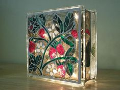Stained Glass Light Block Kitchen With Fruit