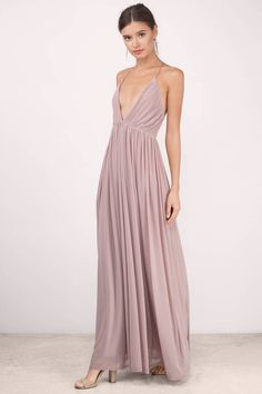 Designed by Tobi. Add to your closet the Jamee Plunging Maxi Dress. Featuring a plunging neckline. Pair with heels and statement jewelry.  - Fast & Free Shipping For Orders over $50 - Free Returns within 30 days!