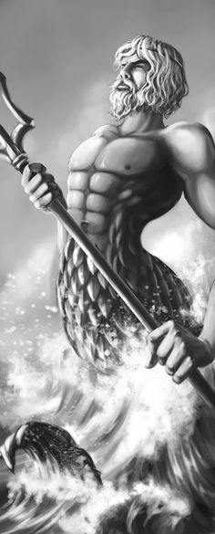 Greek god - Poseidon by Alayna at deviantArt.com