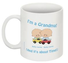 Grandma's Twin Boys  It's About Time Mug by 985Designs on Etsy