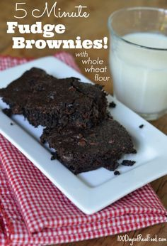 ...it takes only 5 minutes to stir up the batter for these homemade brownies, but of course a little longer than that to actually bake them! But as I was making this batch I