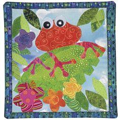 Froggie mini art quilt