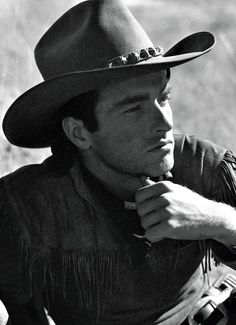 Montgomery Clift, 1948, on the set of Red River