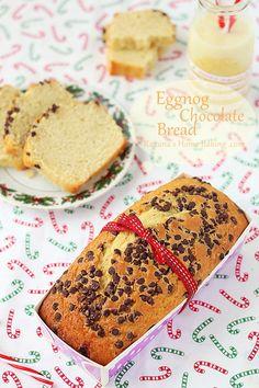Eggnog chocolate bread from @RoxanaGreenGirl | Roxana's Home Baking