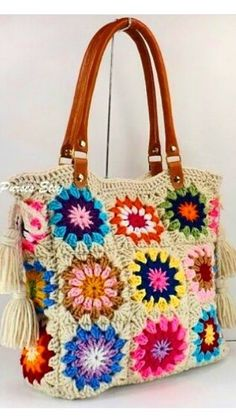 Awesome Granny Square Crochet Bag Pattern Ideas – Page 17 of 56 – lasdiest.c… – Granny Square Sunburst Granny Square, Granny Square Bag, Granny Squares, Crochet Handbags, Crochet Purses, Crochet Mandala, Crochet Granny, Bag Pattern Free, Pattern Ideas