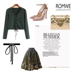 """""""Romwe contest"""" by hexagonish ❤ liked on Polyvore featuring Chanel and Joomi Lim"""