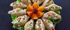 Pasta z wędzonego łososia w muszlach makaronowych Mini Fruit Pizzas, Pasta, Kielbasa, Fresh Rolls, Blog, Sushi, Carrots, Chicken, Vegetables