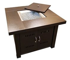 Best Seller AZ Patio Heaters GS-F-PC Propane Fire Pit, BTU, Square, Antique Bronze Finish online - Thechicfashionideas Fire Pit With Lid, Fire Pit Reviews, Fire Pit Materials, Square Fire Pit, Gas Fire Pit Table, Fire Pit Table Cover, Fire Pit Backyard, Backyard Seating, Pergola Patio