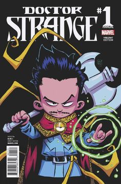 Doctor Strange Annual #1 variant cover by Skottie Young *