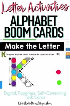 Reinforce uppercase and lowercase letter recognition, letter formation, and letter sounds with hands-on and engaging Boom Card activities. These digital task cards will work on learning to identify and name the letter Q. Use this deck for letter of the day, letter of the week or all year to reinforce alphabet knowledge.This pack includes activities for uppercase and lowercase letters, letter discrimination, letter sounds, letter building, and sorting. Literacy Skills, Kindergarten Literacy, Alphabet Activities, Literacy Activities, Alphabet Writing, Letter K, Letter Formation, Uppercase And Lowercase Letters, Letter Recognition