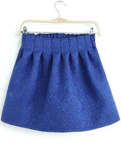 Blue Elastic Waist Embroidered Flare Skirt de SHEINSIDE (SS14) por 22,40€ Ref. skirt13110402