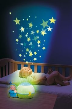 Chicco Goodnight Stars projects starts and plays classical music