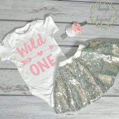 Baby Girl First Birthday Outfit - Wild One by BumpAndBeyondDesigns