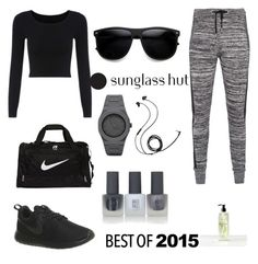 """JUS THE REG "" by mixedgirldoitbest ❤ liked on Polyvore featuring Zoe Karssen, NIKE, CC, Molami, Topshop and Botaniculture"