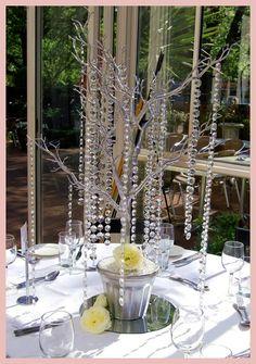 Crystal Wedding Tree, Crystal Centrepieces
