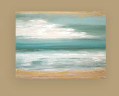 Ocean Seascape Acrylic Abstract Painting Titled: Windswept