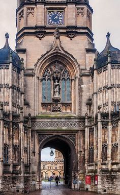 Oxford, England. Entrance to Christ Church College