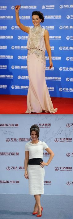 Fabulously Spotted: Kate Beckinsale In Elie Saab Couture & Oscar de la Renta - Qingdao Oriental Movie Metropolis Launch Event - http://www.becauseiamfabulous.com/2013/09/kate-beckinsale-in-elie-saab-couture-oscar-de-la-renta-qingdao-oriental-movie-metropolis-launch-event/