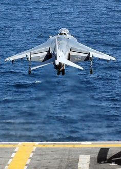 PERSIAN GULF (Sept. 12, 2008) -- An AV-8B Harrier launches off the flight deck of the amphibious assault ship USS Peleliu (LHA 5) during flight operations. Peleliu is deployed in support of maritime security operations in the U.S. Navy's 5th Fleet area of responsibility and is focused on reassuring regional partners of the United States' commitment to security, which promotes stability and global prosperity. U.S. Navy photo by Mass Communication Specialist 2nd Class Dustin Kelling (RELEASED)