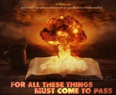 A nuclear explosion coming out of a Bible. Give Me Jesus, My Jesus, Sword Of The Spirit, Flame Art, Christian Pictures, Matthew 24, Bible Encouragement, Rocks, God