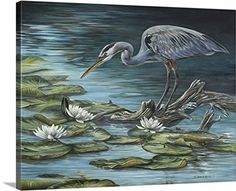 Carolyn Mock Premium Thick-Wrap Canvas Wall Art Print entitled Heron Haven * Special  product just for you. See it now! (This is an amazon affiliate link. I may earn commission from it)