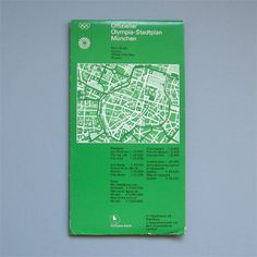 Munich 1972 Olympics Munich Map - Otl Aicher
