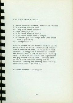 Jane Russell recipe