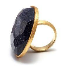 Lola Rose 'Zelda' Blue Sandstone Ring - Size M 1/2: Amazon.co.uk ...